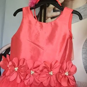 Dresses - Cecile, Girl Dress Formal  Coral 6/7,